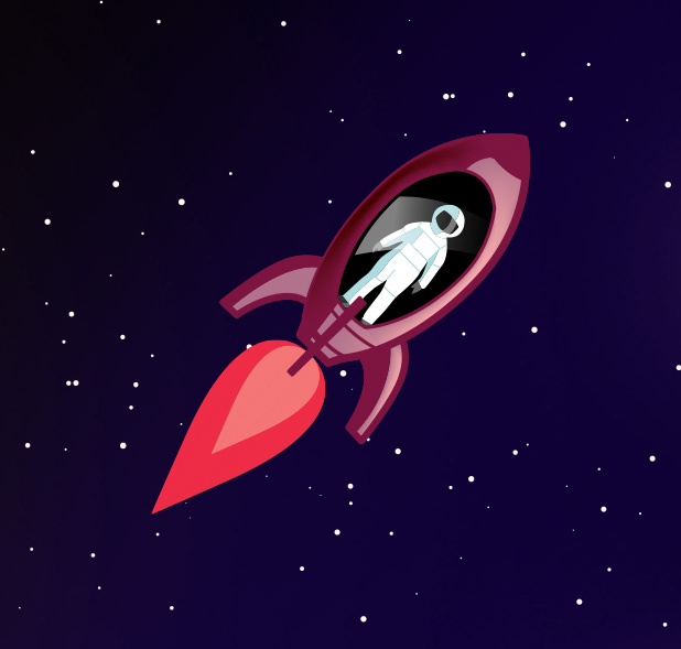 Rocket, accelerating
