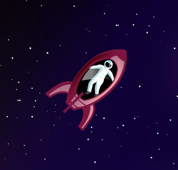 Rocket, floating