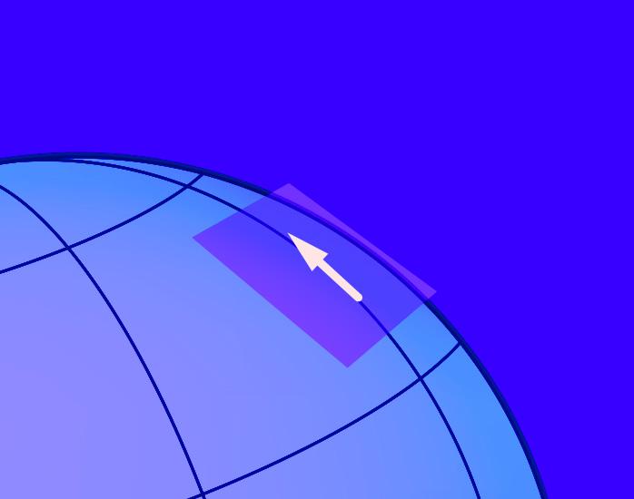 Vektor auf Tangentialebene: Zoom