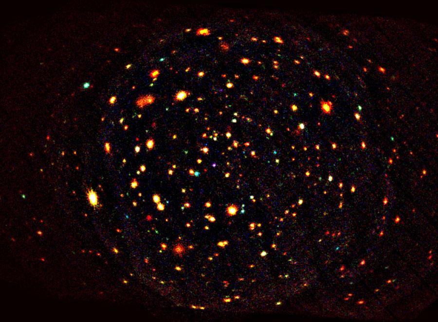Aktive Galaxienkerne / Falschfarbenbild der Röntgenstrahlung