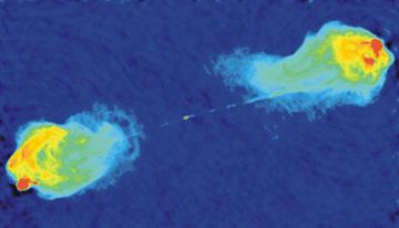 Radiogalaxie Cygnus A © NRAO/AUI/NSF