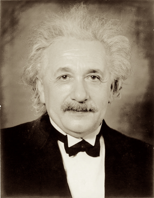 Formal portrait of Albert Einstein