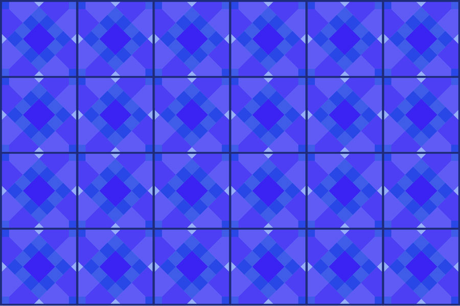 Two-dimensional tile pattern