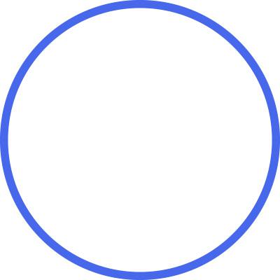 Einfacher, eindimensionaler Raum, der wie ein Kreis geformt ist