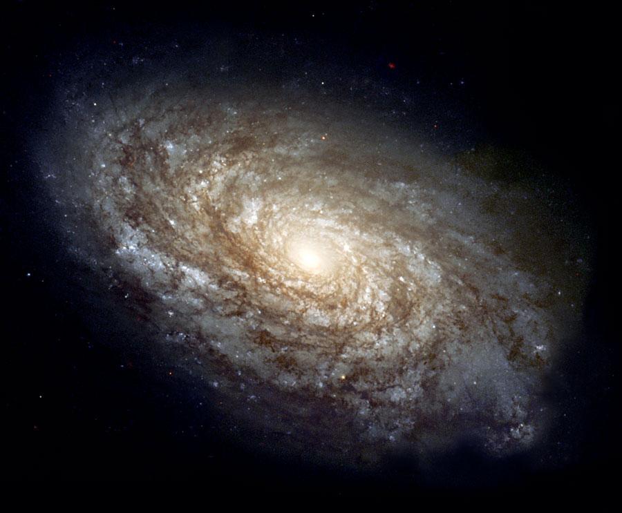 Hubble-Aufnahme der Spiralgalaxie NGC 4414