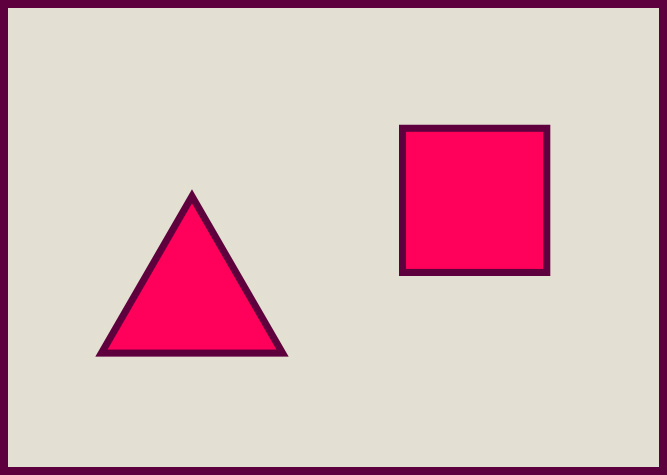 Square and triangle in a plane