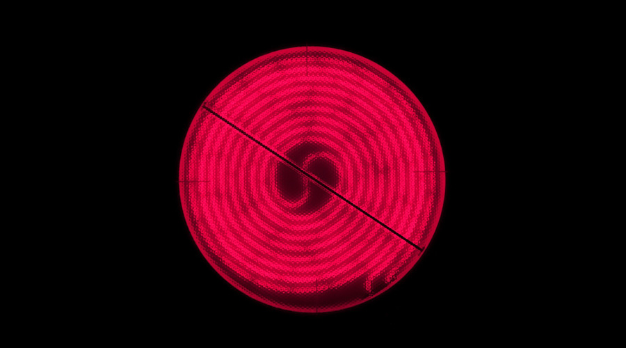 Hot plate, glowing red