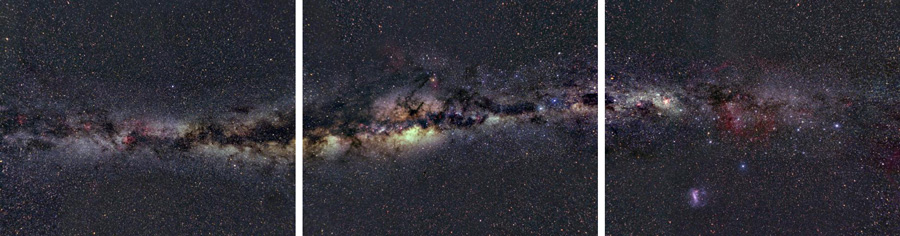 Descent into a black hole: looking at the Milky Way