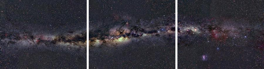 Reise in ein Schwarzes Loch: Blick auf die Milchstraße