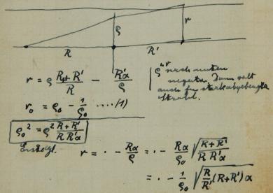 Abbildung aus Einsteins Notizbuch
