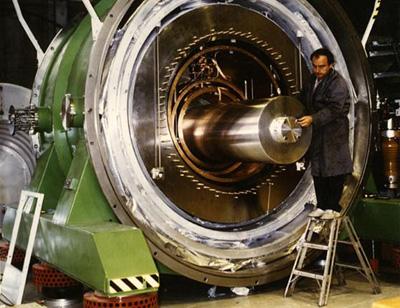 Blick in den Gravitationswellendetektor Nautilus